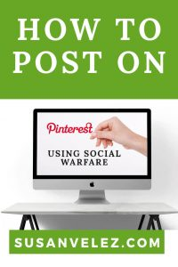 Learn how to use Pinterest even if you're a DIY blogger. Before you sign out of Pinterest and call it quits, I'm going to show you how to pin using the Social Warfare plugin.