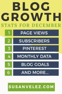 Blog stats growth for December 2017. Growing a blog is hard, that's why you need to make sure that you're treating your blog like a business. Get blogging tips and find out what I am doing to help me grow my blog. Plus find out what blogging tasks I did in December 2017 to help me grow my blog.