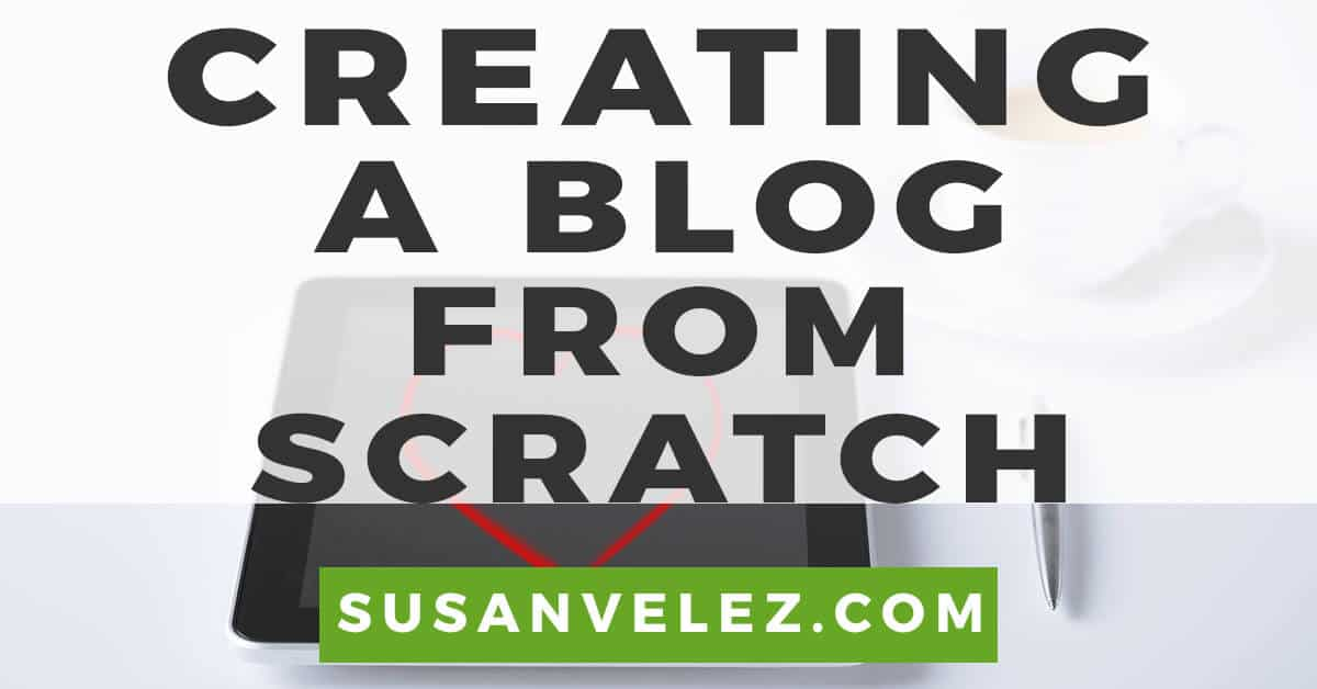 creating a blog from scratch