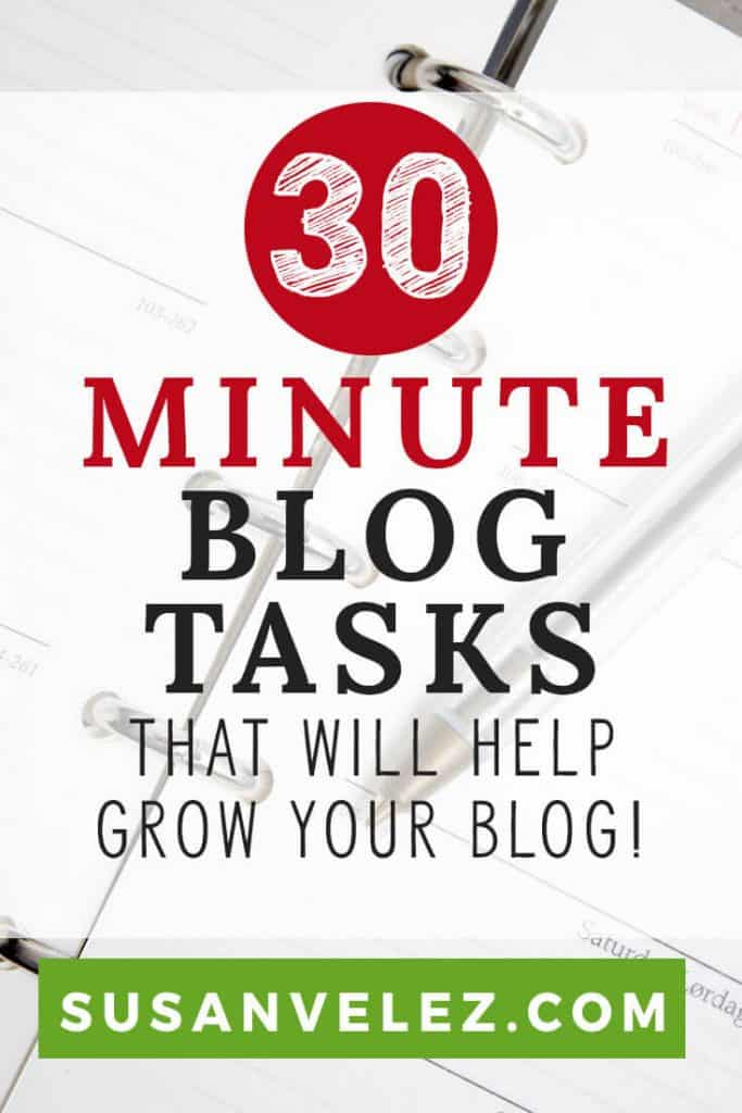 As a new blogger, finding the time for blogging can be hard. If you want your blog to grow, here are some blogging tasks you can do in 30 minutes. Overtime, you will see your blog grow without spending all day on it.