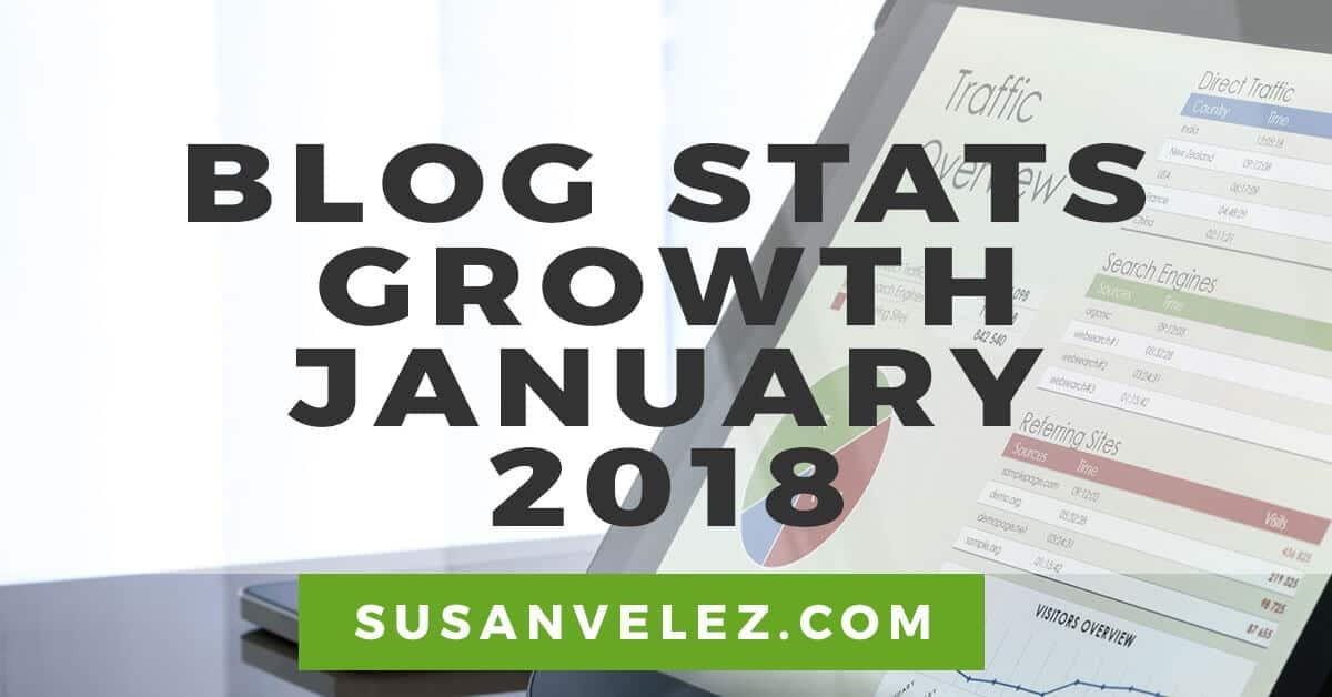 blog traffic report January 2018
