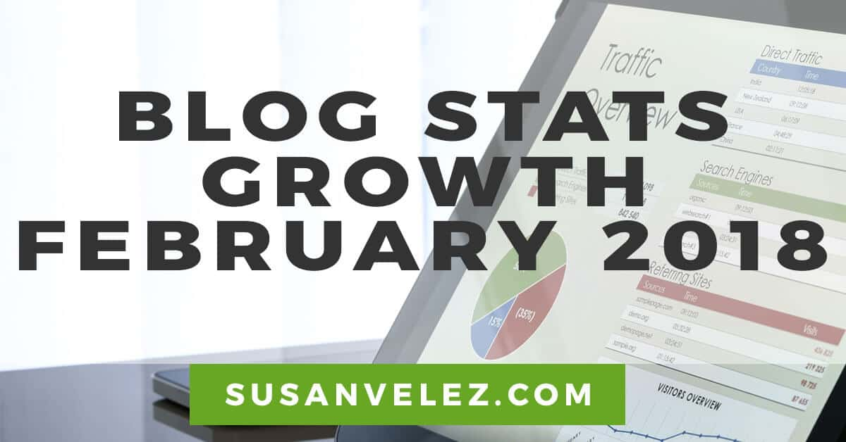blog traffic report February 2018