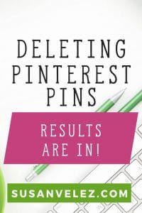 How to delete Pinterest pins and how it has given me more traffic. I've been deleting Pinterest pins for about 2 weeks now and this has improved my Pinterest reach and I've gotten more traffic just by deleting pins.