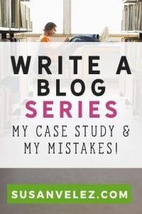 How to write a series for your blog. If you need more blog traffic, then you may want to consider writing a blog series to help you increase your blog traffic. Find out how my blog series did and what type of results I got.
