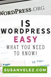 Is WordPress easy to use? So many bloggers choose WordPress as their blog platform. WordPress can be hard to learn, find out what you need to know and how to fix it.