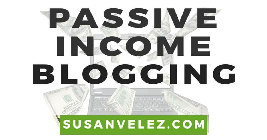 passive income blogging
