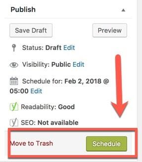 schedule blog post
