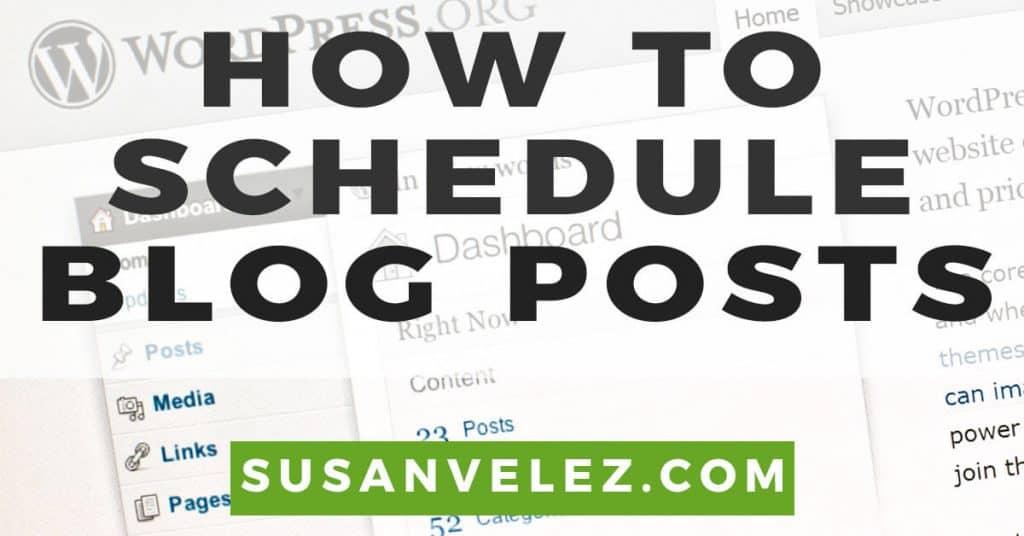 schedule posts on WordPress