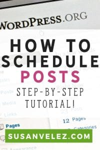 How to schedule posts on WordPress. Writing content for your blog is easy if you take the time to batch it. Batching blog content has allowed me to focus on other blogging tasks to help me grow.