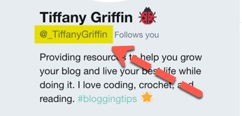 Tiffany Griffin Twitter handle