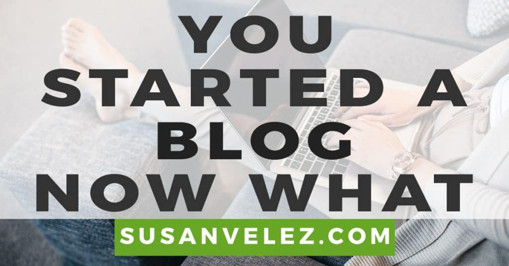 you started a blog