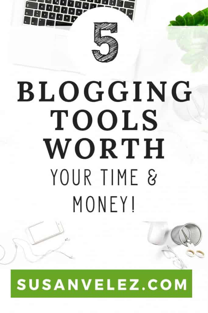 5 Blogging tools that will help you grow your blog. Chances are you cringe when people talk about investing in your blog. After all, it's hard to spend money on a blog that hasn't made any money. https://susanvelez.com/5-blogging-tools-worth-time-money/