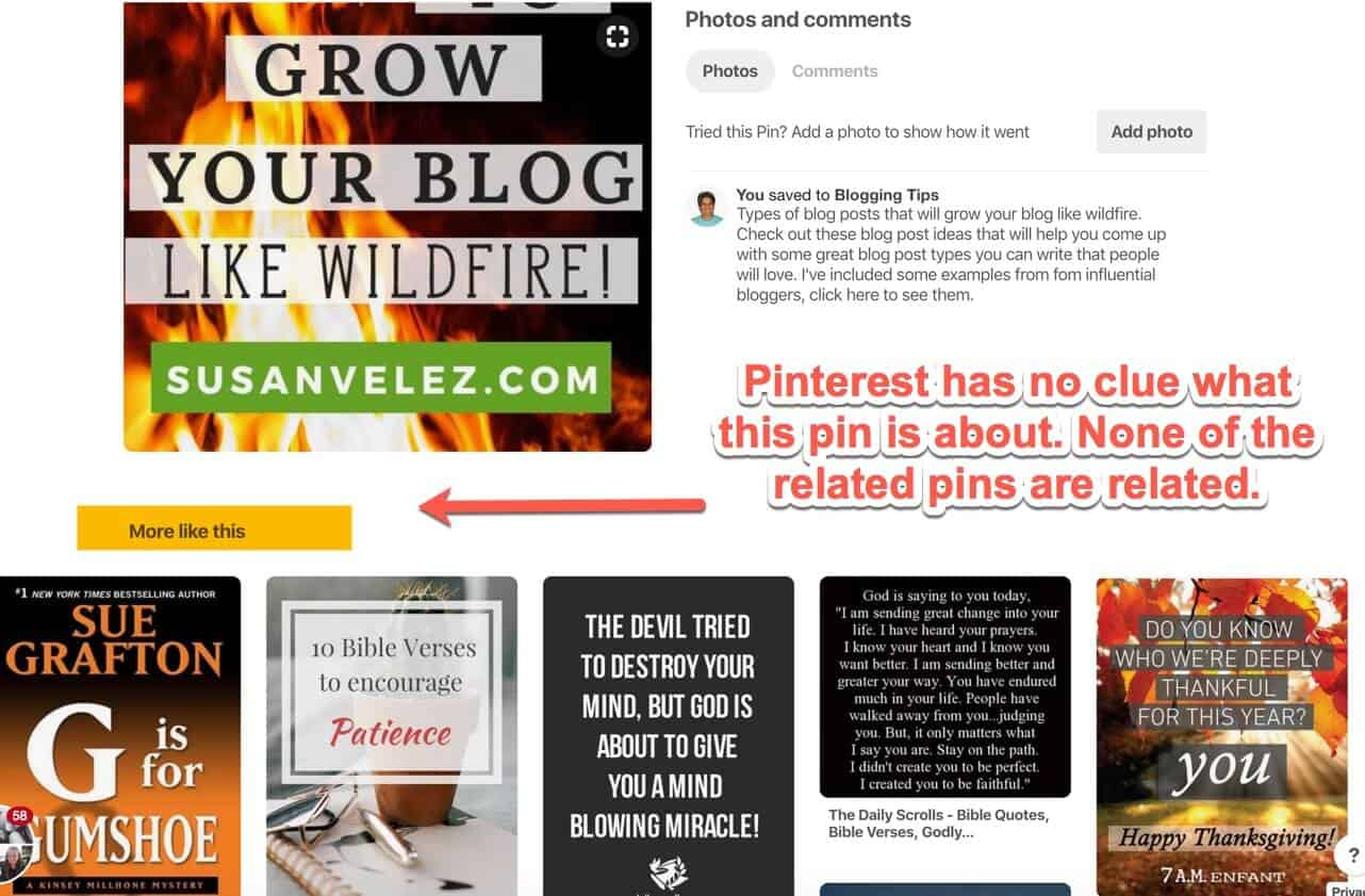 Pinterest related pins