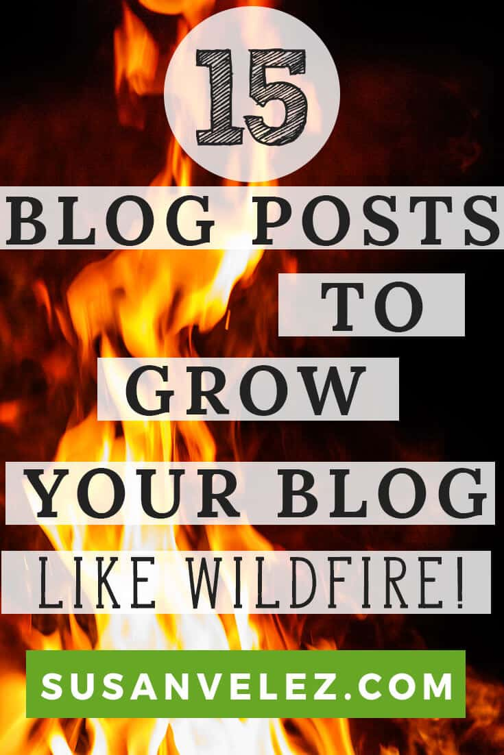 Types of blog posts that will grow your blog like wildfire. Check out these blog post ideas that will help you come up with some great blog post types you can write that people will love. I've included some examples from fom influential bloggers, click here to see them.