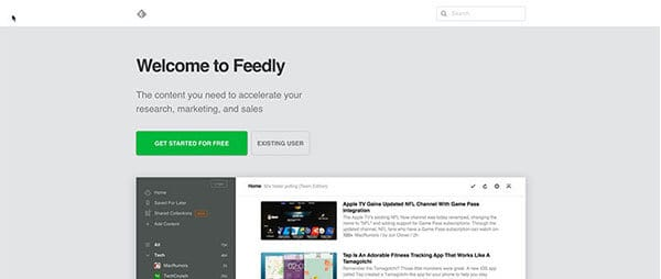 Feedly blogging tools
