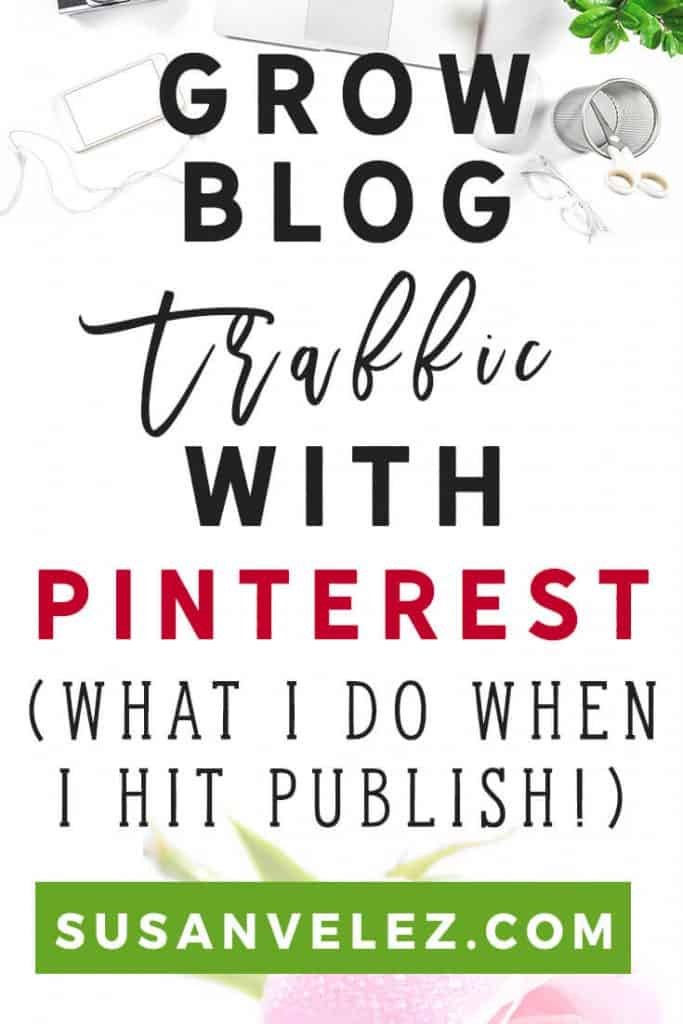 How to grow blog traffic with Pinterest and what I am doing. Are you struggling with growing your blog? I know how you feel because the first year I didn't get anywhere with my blog. Well for the past two months, I've sat down and come up with a Pinterest plan that is helping me grow my blog.