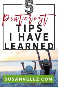 5 Pinterest tips for bloggers that I've discovered to help you improve your Pinterest marketing. I know what you're thinking, some more generic Pinterest tips that have been rehashed again. If you have heard them before then I apologize, but this is something that I've just discovered.
