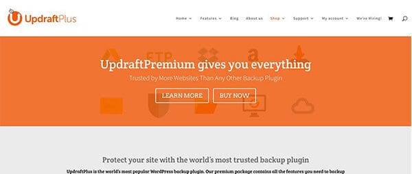 Updraft Plus blogging tools