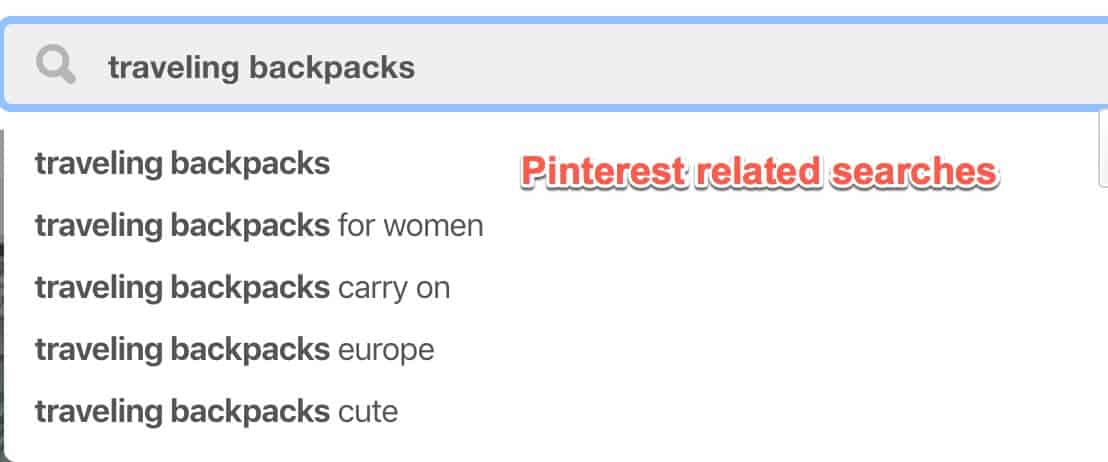 Pinterest related searches