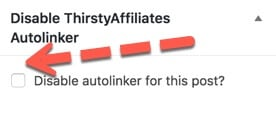 disable ThirstyAffiliates