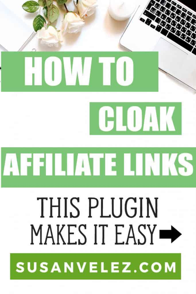 You are about to learn how to cloak affiliate links in WordPress. Plus, I'll also share why it's important to click affiliate links and the plugin that I use to make this process so simple.