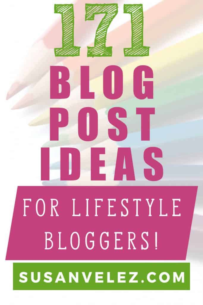 Writer's block is real for all bloggers. I personally think that coming up with lifestyle blog post ideas is a lot easier than most blogs. After all, these niche blogs are not very specific. So I thought it'd be fun to come up with 171 topics for a lifestyle blog are meant to last you all year long.