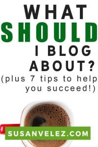 What should I blog about and what is the best way to succeed in creating a profitable blog. If you have ever thought about starting a blog, but don't have a clue how to get started, then you're in the right place. #blogging #blogger
