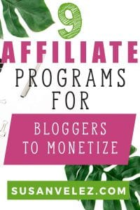 Looking for some affiliate programs for bloggers that are easy to join and don't require a ton of traffic? Just because you're a new blogger doesn't mean that you shouldn't be able to earn money. #blogging #makemoney #affiliate