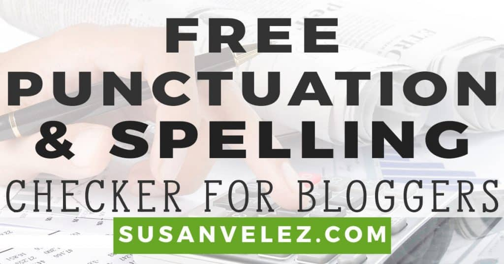 free punctuation checker and corrector