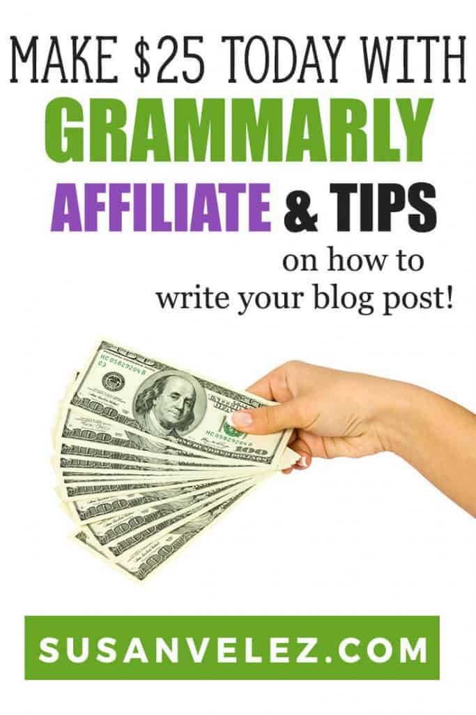 Want to get a quick affiliate commission win? If so then I have a quick and easy tutorial that will help you sign up for the Grammarly referral program and earn a quick $25 affiliate commission. #affiliate #makemoney