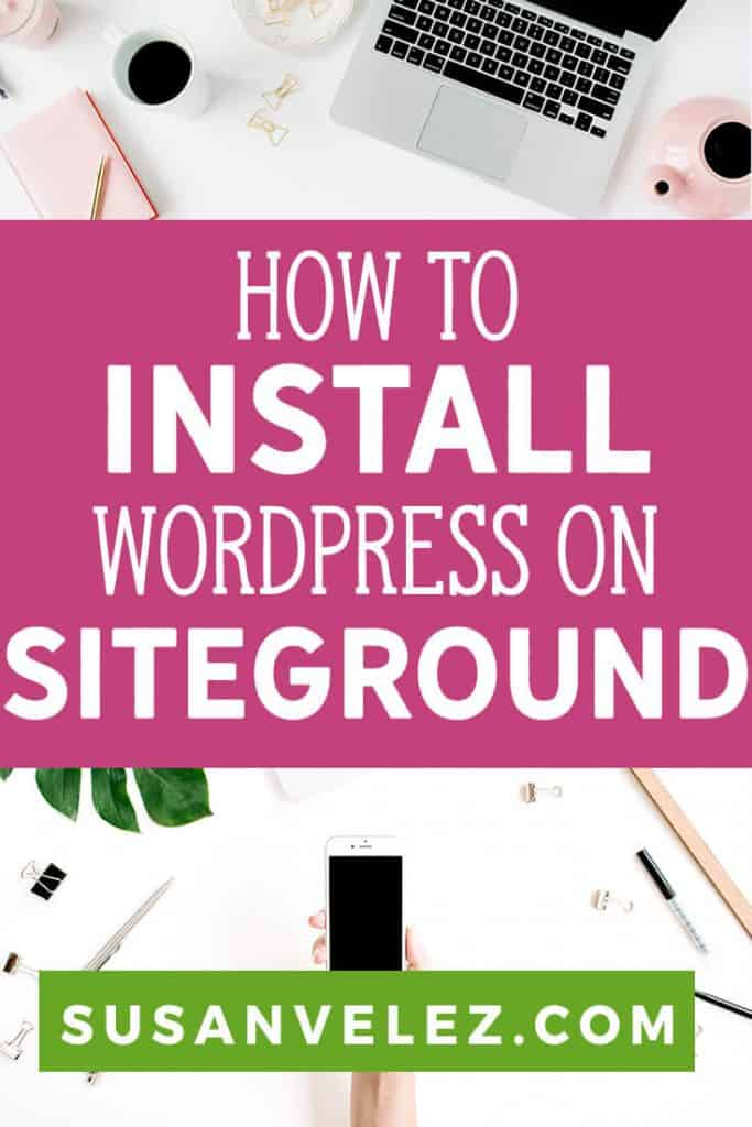Ready to get your blog up and running in 5 minutes? If so, this tutorial will show you how to install WordPress with Siteground in a matter of minutes. Once you've completed the techie part (which isn't that challenging) you'll be able to focus on writing great content and telling the world about it. #blogging #bloggingtips #wordpress