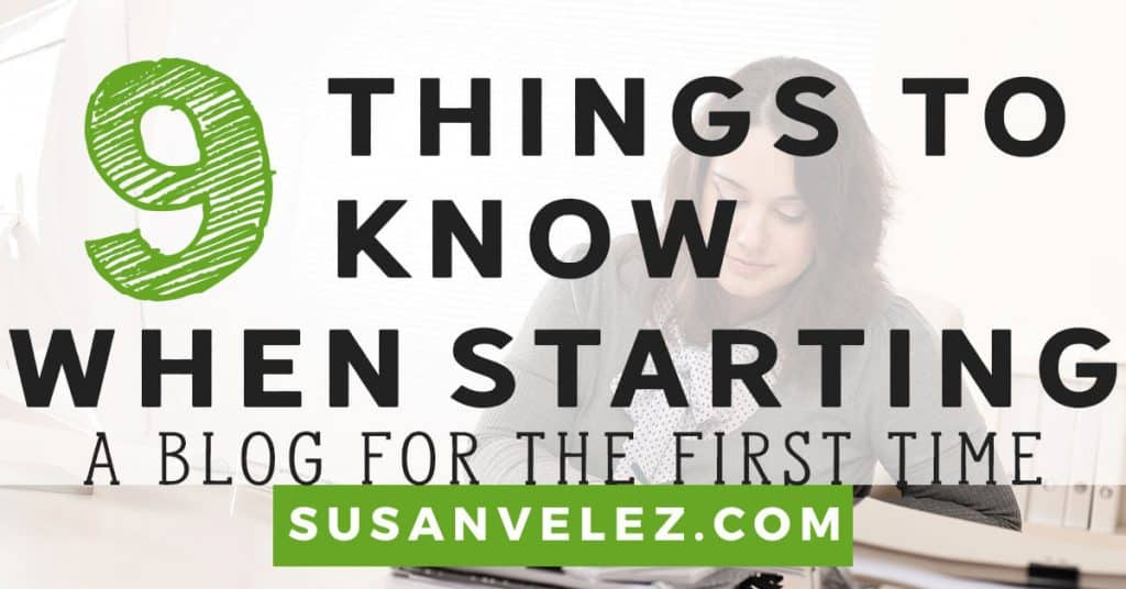 things to know when starting a blog