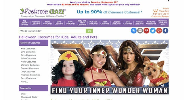 costume craze affiliate program