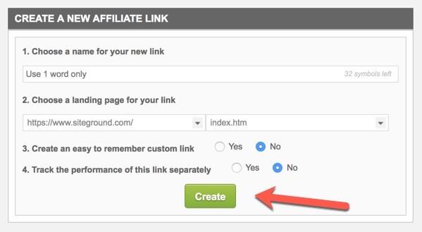 create a custom link