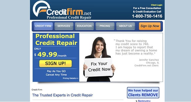 credit firm affiliate program