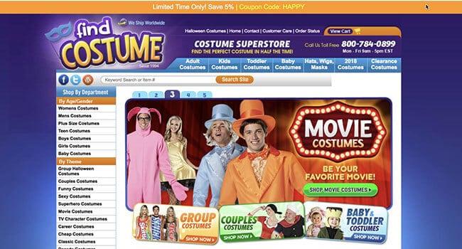 find costume affiliate program