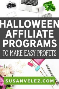 If you have a Halloween blog, then you're in for a treat. I'm going to share 9 of the best Halloween affiliate program networks you need to consider joining. Start making money with a Halloween blog and create a seasonal passive income...#halloween #affiliates #blogging