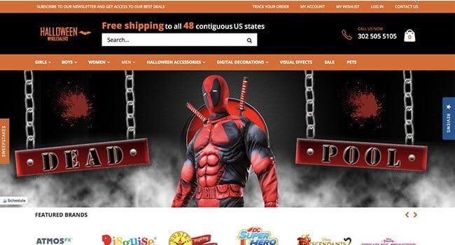 halloween wholesalers affiliate program