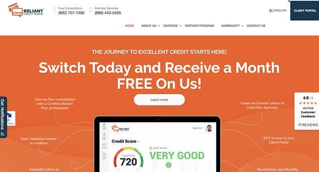 reliant credit repair affiliate program