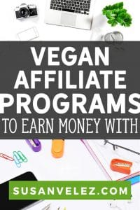 If you're considering starting a food blog, you might want to consider entering the vegan plant-based niche. I've decided to find 9 vegan affiliate programs that will earn you profits from your website traffic. #makemoney #affiliate