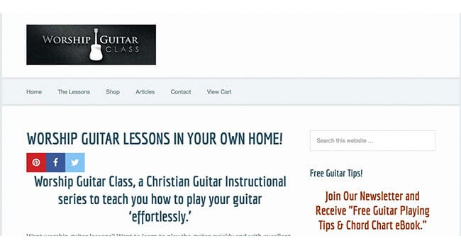 Worship Guitar affiliate program