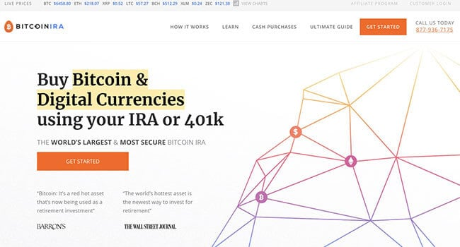 bitcoin IRA affiliate program