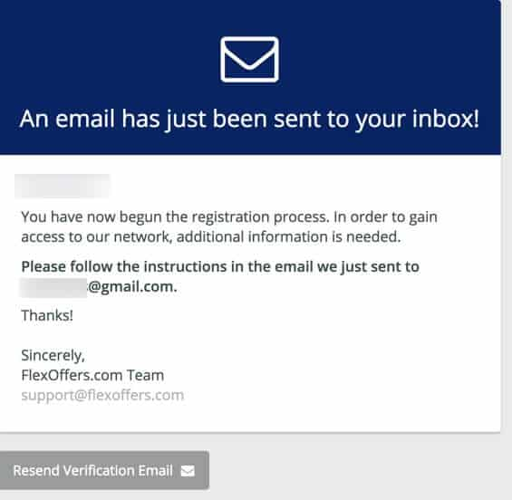 flexoffers verification email
