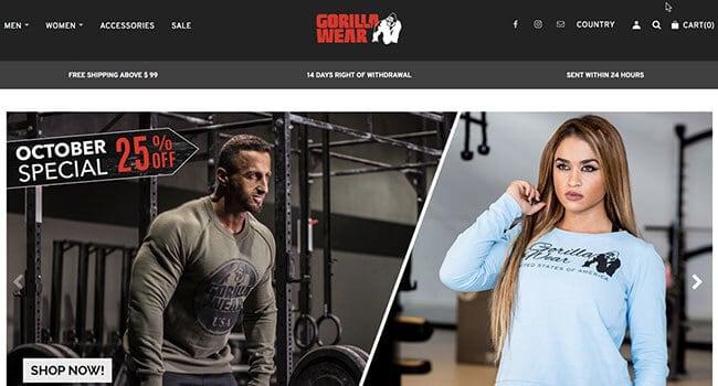 gorilla wear fitness clothing affiliate program