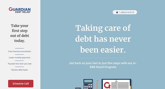 guardian debt relief affiliate program
