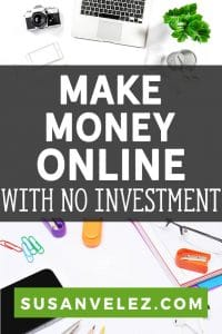 "Have you ever wondered, ""can I make money online for free?"" While you won't get rich or it won't happen overnight, you are going to learn how to make money online without paying anything. Plus, I'll share one of my favorite way to make money working from home."