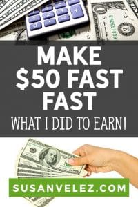 With the holidays fast approaching more and more people are looking for ways to make extra money. I'm going to share some ways that you can make 50 fast without leaving the comfort of your own home.