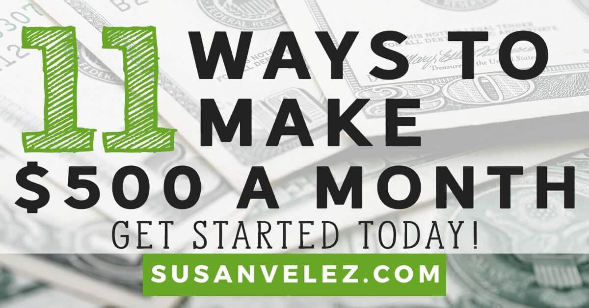 make 500 a month