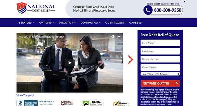 national debt relief affiliate program
