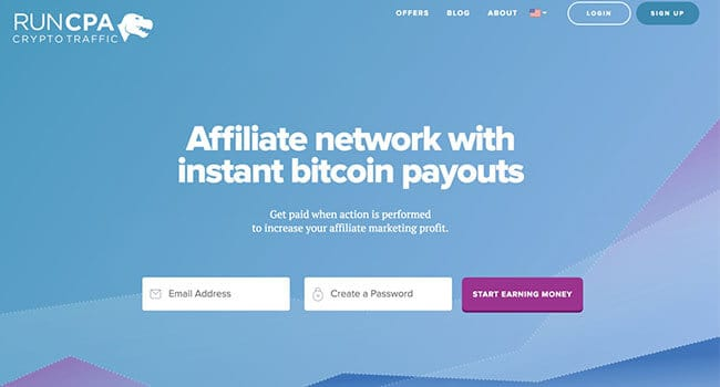 runcpa crypto affiliate program